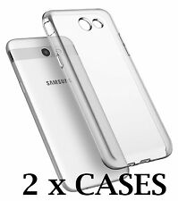2 x Pieces - Transparent Clear TPU Rubber Case for Samsung Galaxy J3 Emerge J327