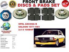 für Opel Ascona B Saloon 2.0 S 1977-1981 Vorderbremse Scheibensatz + BREMSE