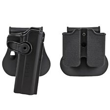 Tactical Colt 1911 M1911 RH Pistol Paddle Belt Holster Gun Magazine Holster