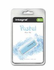 Integral 8GB Pastel Blue-Sky Colour USB 2.0 Flash Pen Drive Memory Stick
