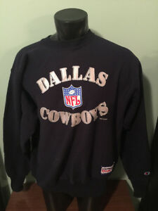 Vtg Dallas Cowboys NFL Pro Line Champion Reverse Weave Sweatshirt Mens XL