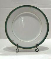 Nikko Forest Glen Gold Edging Green Marble & White Base Dinner Plate