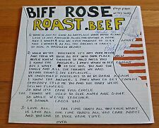Biff Rose 1978 Down Pat - Pacific Arts LP Roast Beef  SIGNED COVER