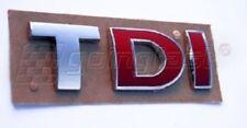 Audi A3 A4 A6 A7 TT Q5 R TDI Trunk Hatch Badge Emblem Decal Logo Chrome Red Red