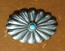 """Craftool - Tandy Leather 1 1/2"""" x 1"""" Turquoise Southwest (Oval) Concho 7122-08"""
