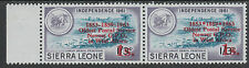 Sierra Leone 3915 - 1963 POSTAL  COMMEMORATION 1s on 1s3d VARIETY unmounted mint