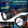 Underwater 500M 5000LM XM-L T6 LED Diving Flashlight Waterproof Torch Lamp