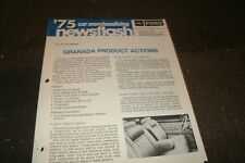 1975 FORD GRANADA PRODUCT ACTIONS DEALER MERCHANDISING NEWSFLASH BROCHURE SHEET