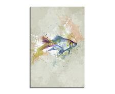 90x60cm PAUL SINUS Splash Art Gemälde Kunstbild Fisch