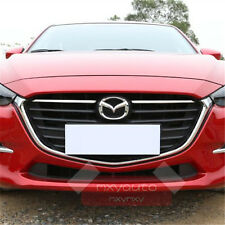 New 2pcs ABS Chrome Grille Molding  Trim For Mazda 3 Sedan Hatchback 2017 AXE