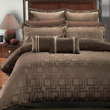 8 PC Janet Jacquard Bedding Set Includes [ Alt Comforter + Duvet Set + Shams ]