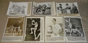 Lot Of 7 Vintage 1950's Iowa Sports AP Wire Photos