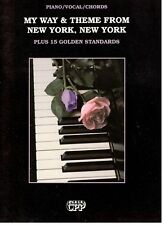 My Way & Theme From New York, New York Plus 15 Golden Standards-Music Book-New!