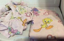 Looney Tunes 2 Pc.Twin Flat & Fitted Sheet Pink Tweedy Bird Vintage
