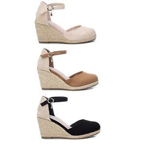 XTI Mujer Sandalias Cuñas Verano Zapatos Chanclas 23015