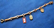 WWII Sweetheart Bracelet w/ Son-In-Service, Locket and Quartermaster Charms