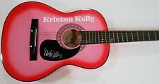 Kristen Kelly Signed Acoustic Guitar w/COA Ex-Old Man Brad Paisley Country
