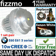 Fizzmo Xenon Blanco Led Angel Eye Bmw Serie 5 E60 E61 LCI Lifting 10w Cree Bombilla