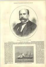1873 señor ritmo del yate deerhound capturado Costa de España
