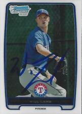 Will Lamb Texas Rangers 2012 Bowman Chrome Signed Card