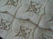Gorgeous Vintage Madeira Hand Embroidered Cutwork Linen Dinner Napkins Unused