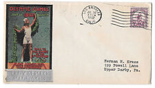 US 1932 Olympics Summer Opening Day Cover Olympic Village Cachet Sc 718