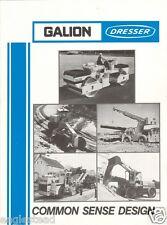 Equipment Brochure - International Hough Dresser Galion Product Line 85 (Eb408)