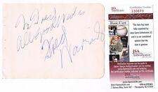 Fred Waring Signed JSA Vintage 1938 Autograph 4x6 Album Page Band Leader Blender