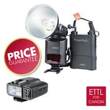 PIXAPRO ® híbrido 360 Ettl Bare Bombilla Flash con St-III TTL Trigger (para Canon)