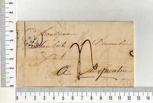16911) FRANCE 19.4.1848 Stampless Cover St. Omer - St.