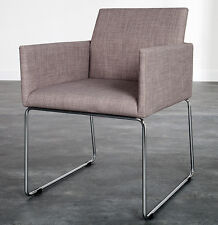 chaise de salle à manger Marco tissu texture gris design cuisine NEUF