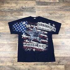 Dale Earnhardt Jr. NASCAR USA Troops T Shirt Mens XL #88 Dale Jr - Double Sided