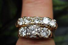 2 CARAT NON ENHANCED ANTIQUE DIAMOND WEDDING SET 14K YG SZ 9 $4500.00 APPRAISAL