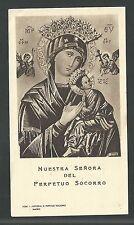 estampa antigua de la Virgen del Perpetuo Socorro santino holy card image pieuse