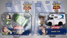 Toy Story 4 Minis & Vehicle Lot - Buzz & Woody Disney Pixar