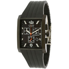 Citizen Men's Gents Eco-Drive Largo AT0915-06E Black Rubber Japanese Quartz F...