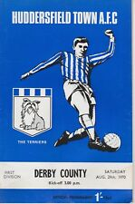 HUDDERSFIELD TOWN v DERBY COUNTY ~ 29 AUGUST 1970