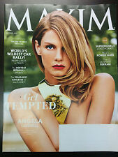 Maxim Magazine October 2014 Get Tempted With Angela Lindvall Supermodels on Inst