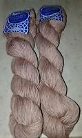 2 SKEINS/HANKS OF LUXURY COLLECTION PIMA NEBLA YARN FROM DIAMOND ~ #902 L. BROWN
