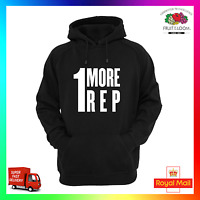 1 More Rep Hoodie Hoody Gym Fitness Training Weight Squat Lift Tumblr Insta Cool