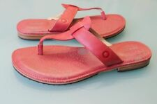 NEW BOGS WOMENS 8.5 NASHVILLE FLIP SANDALS THONG SANDALS LEATHER DESERT ROSE