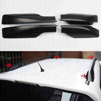 Black Roof Rails Rack End Cover Shell 4pcs For Toyota RAV4 XA30 2006-2012