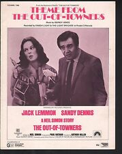 Theme from The Out of Towners 1970 Jack Lemmon Sandy Dennis Sheet Music