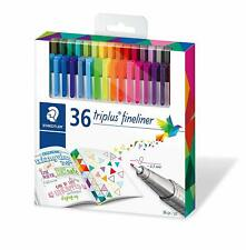 Staedtler, Triplus Fineliner Pens, 36 Brilliant Assorted Colors, New
