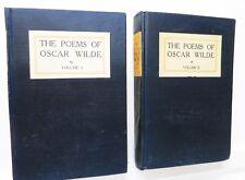 The Poems of Oscar Wilde, Vol 1 & 2, 1906, F M Buckles - RARE