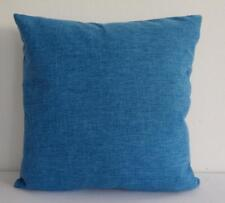 Blue Solid Colour Double Sided Burlap Linen Look Cushion Cover 45cm