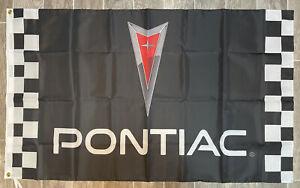 Pontiac Logo 3X5 Garage Wall Banner Flag Firebird Man Cave Garage FREE SHIPPING