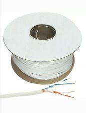 200m Telephone/Alarm Cable 2 Pair.4 Wire White Internal.copper core- Full Drum
