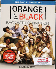 Netflix's ORANGE IS THE NEW BLACK: Season Two [Blu-ray, 2015] NEW! TARGET EXCL.