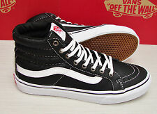 Vans SK8 Hi Slim Leather Black True White VN-0QG39WS Women's Size  7
